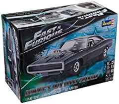 Construct your own fast & Furious car with this challenging 122-piece model kit Kit features detailed blown Hemi engine, raiser rear suspension and drag slicks, roll bar, and fire extinguisher Kit is molded in white, transparent red, and clear with c...