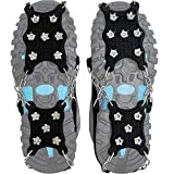 Ice Cleat Spikes Crampons and Tread for Snow & Ice,The Only Innovative Design on Amazon,Attaches Over Shoes/Boots for Everyday Safety in Winter,Outdoor,Slippery Terrain. (X-Large)