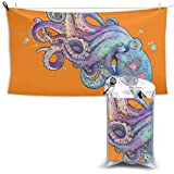 XCNGG Toallas de baño de secado rápido Toallas de baño para el hogar Toallas Quick Dry Bath Towel, Absorbent Soft Beach Towels, Beautiful Octopus for Camping, Backpacking, Gym, Travelling, Swimming,Yo