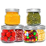 EAXCK Glass Pitcher,Mason Jars 8oz Glass Jars. with Silver Metal Airtight Lids for Food Storage,...