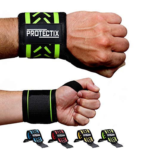Protectix Handgelenk Bandagen Wrist Wraps [2er Set] - 45cm Handgelenkbandage für Kraftsport, Crossfit, Fitness & Bodybuilding