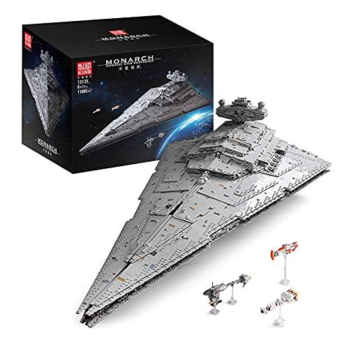 WANZPITS Technic Classic Attack Cruiser Architecture Architecture Model A New Hope Imperial Star Destroyer (ISD Monarch) 11885 PC Building Blocks Compatibile con Lego Star Wars da Collezione,As Shown