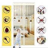 GL SUIT Fly-Tür-magnetische Schirm-Tür-Vorhang automatisch geschlossen Anti-Moskito-Vorhang Schwer Siebgewebe Full Frame Magic Tape Mute Selbst Absorption Tür-Schirm-Vorhang,85 * 215cm