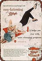 リビー39sノンファッティングトマトジュースウォールメタルポスターレトロプラーク警告ブリキサインヴィンテージ鉄絵画装飾オフィスの寝室のリビングルームクラブのための面白いハンギングクラフト