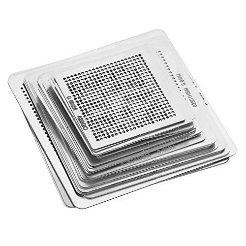 Plantillas BGA, plantillas térmicas BGA, placa principal de comunicación de acero inoxidable de 33 piezas, puente norte-sur para computadora portátil, tarjeta gráfica de escritorio