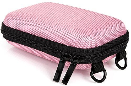 Baxxtar Pure S - Funda rígida para cámara Digital (6cm x 2,5-3cm x 10,5cm) con trabilla para el cinturón y Correa Bandolera - Color Rosa