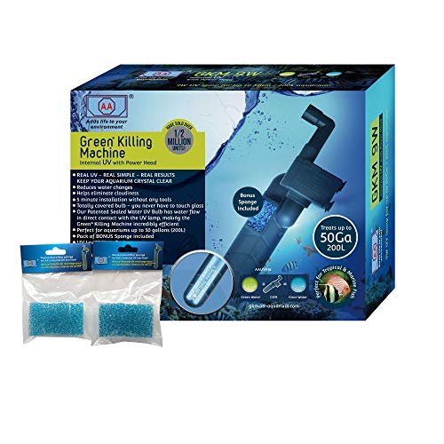 GKM9W Internal UV with Power Head & Two Pack Replacement Sponge (3 Items)