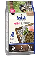 ボッシュ ミニライト 1歳以上 通常活動レベルの小型成犬用総合栄養食 全犬種用 小粒 ハイプレミアム ドッグフード 1kg