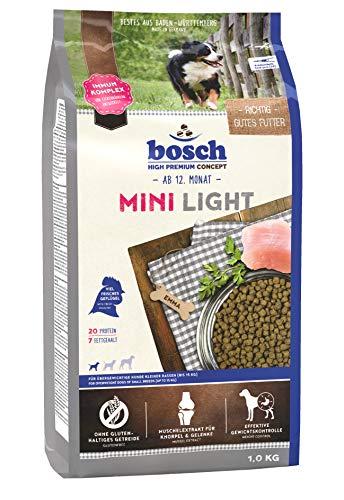 bosch HPC Mini Light | Alimento seco para perros de razas pequeñas con sobrepeso (hasta 15 kg) | 1 x 1 kg