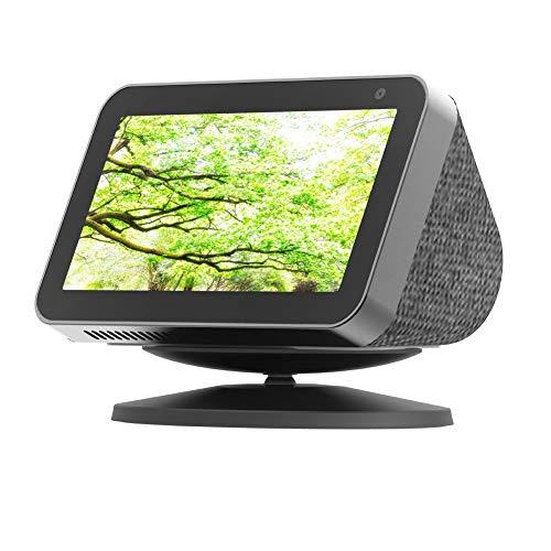 Ousyaah Soporte Regulable para el Echo Show 5,Base con Magnética,Rotación de 360 Grados,Inclinar hacia adelante y hacia atrás,Alexa Show Smart Speaker Stand (Negro)