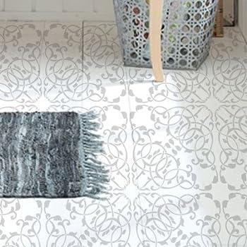 dise/ño 28x28 cm Tama/ño peque/ño: stencil 30x30 cm figura 28x28 cm Stencil Pared Baldosa 005