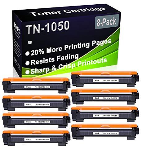 Paquete de 8 cartuchos de impresora láser compatibles con HL-1112 HL-1110 HL-1210W HL-1212W DCP-1610W DCP-1512 DCP-1612W DCP-1510 (alta capacidad) de repuesto para Brother TN-1050 TN1050