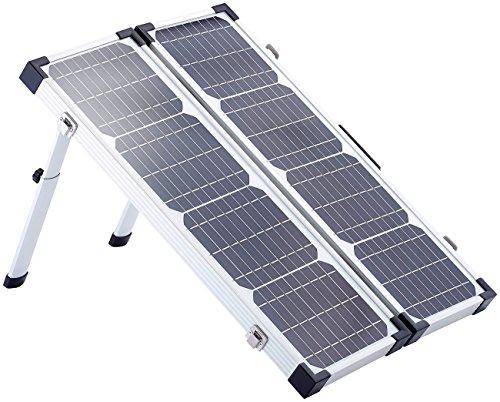 revolt Faltbares Solarpanel: Klappbares Solarpanel PHO-4000 mit Tasche, 40 W (Solarpanel tragbar)