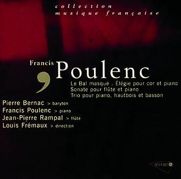 Poulenc-Un bal masqué-Sonate pour flute-Elegie pour cor-Trio pour piano hautbois et basson