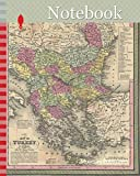 Notebook: 1853, Mitchell Map of Turkey in Europe and Greece, Greece, Balkans, Macedonia