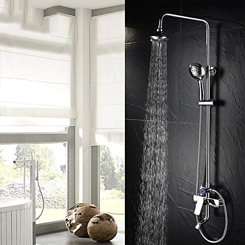 Fantastic Deal! L.J.JZDY Shower Set Shower Set Copper Mixing Valve Hot and Cold Faucet Bathroom Show...