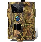 Suntekcam - Cámara de caza de 12 MP con tarjeta SD de 8 GB, 1080P Full HD, visión nocturna infrarroja, impermeable IP54, cámara de caza