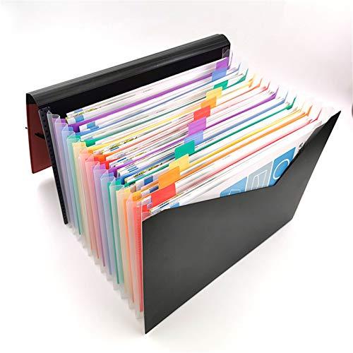 JenLn Bolso del Soporte del documento Carpeta de Archivos de extensión/Caja de Almacenamiento de Recibos del Administrador de Archivos A4 Carteras de expansión portátiles