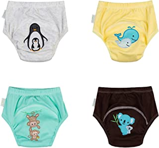Babyfriend Baby Boys' Washable Waterproof Pack of 5 Baby Training Pants TP5-010 (Large, TP4-001B)