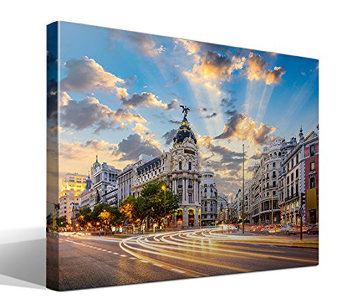 Cuadro Canvas Calle Alcalá Madrid - 75cm x 55cm -