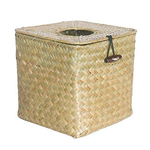 23 x 12 x 10,5 cm Dormitorio Caja de pa/ñuelos de Madera Natural Cocina para sal/ón Soporte para pa/ñuelos de Papel Decorativos Smandy Caja de pa/ñuelos de Papel Rectangular
