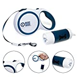 Basic Oasis Tangle-Free Retractable Dog Leash   FREE Flashlight, Poop Bag Holder, and Bags Included   16 Ft - Best Up to 50 lbs
