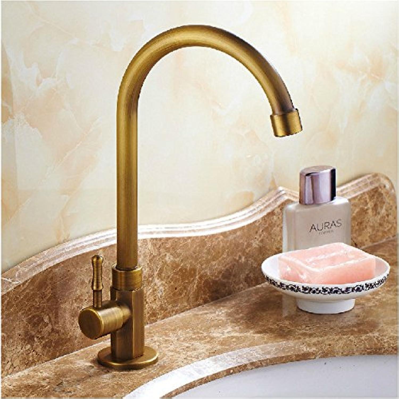 LHbox Basin Mixer Tap Bathroom Sink Faucet All copper antique redating European retro swivel basin mixer