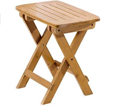 GDMING Footstool Bamboo Non-Slip Tough Environmentally Friendly Material, 2 Sizes (Size : 37x30x44cm)