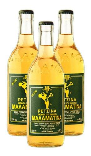 Malamatina Retsina 3er Pack, (3 x 500ml Flasche)