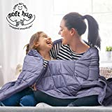 Mooka Weighted Blanket 20lbs for Adults 160-280lbs Individuals, 100% Cotton Material with Premium Glass Beads, Cooling Weighted Blanket for Restful Sleep (60'x80', Queen Size, Gray)