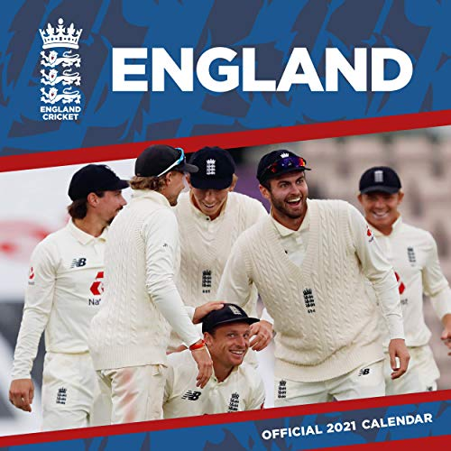 England Cricket 2021 Calendar - Official Square Wall Format Calendar