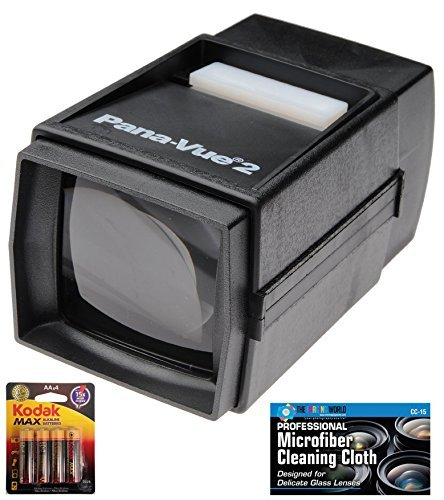 Buy Discount Pana-Vue 2 Illuminated Slide Viewer + AA Batteries + Microfiber Cleaning Cloth