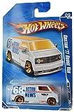 Hot Wheels 2010 City Works 9/10 Custom '77 Dodge Van 117/240, White