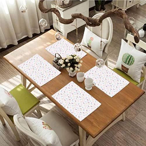 Manteles individuales resistentes al calor para mesa de comedor, juego de 8 unidades, diseño de...