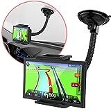 MONTOLA Universal Navi Halterung für Auto kompatibel mit Tomtom Garmin und weitere - KFZ-Halterung mit 360° Kugelgelenk und Schwanenhals