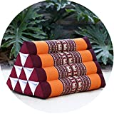 LIQICAI Bed Backrest Cushion Rest Pillows for Watching TV and Reading Bed Wedge Pillow Kapok Filling Foldable Triangle Thai Cushion, Headrest, 8 Colors (Color : C, Size : 50x30x30cm)