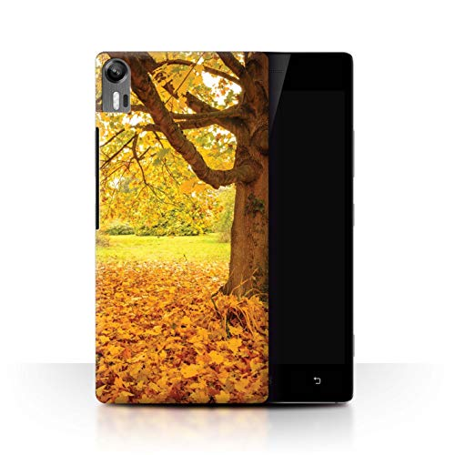Stuff4 Phone Case for Lenovo Vibe Shot/Z90 English Gardens Autumn/Fall Transparent Clear Ultra Slim Thin Hard Back Cover