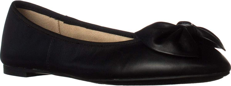 Sam Edelman Circus Ciera Bow Ballet Flats, Black, Black, Size 6.0