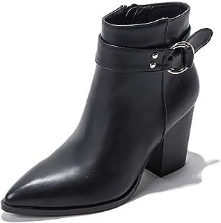Donna Intelligente Tacco Autunno E in Inverno Moda Chelsea Stivaletti Scarpe A Punta-Toe Stivali Casual Caviglia
