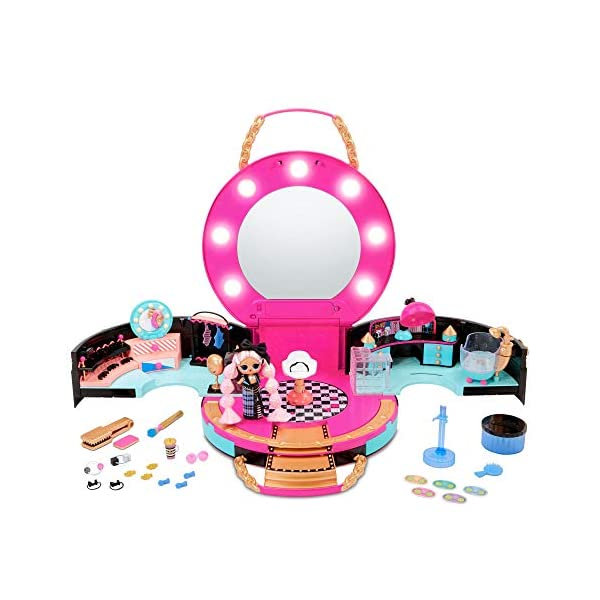 L.O.L. Surprise! Hair Salon Playset with 50 Surprises and Exclusive JK Mini Fashion...