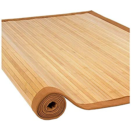 Nisorpa Natural Bamboo Mat Large Bamboo Floor Mats for Home Anti Slip Kitchen Floor Rug Eco-Friendly Bamboo Bath Rug Rolling Matting Carpet 28x79inch for Bathroom Bedroom Living Room Area Rugs