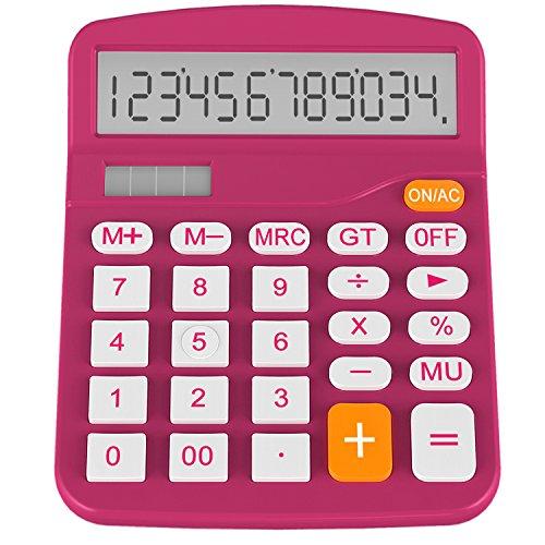 Helect H1001A- Calculadora Básica, Energía Solar, Naranja