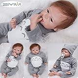 ZIYIUI 22 Zoll Reborn Babypuppe Realistisch 55 cm Neugeborene Reborn Silikon Weichkörper...
