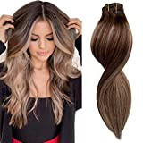 Best Clip In Hair Extensions - Balayage Clip in Hair Extensions Remy Human Hair Review