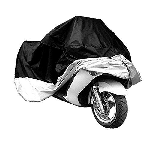 TOOGOO(R) Funda Protector de Polyester Cubierta para Moto XXXL Negro y Plateado