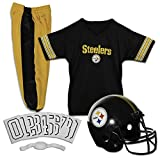 Franklin Sports Pittsburgh Steelers Kids Football Uniform Set - NFL Youth Football Costume for Boys & Girls - Set Includes Helmet, Jersey & Pants - Small