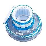 Monsterzeug Aufblasbarer Flaschenkühler, Schwimmende Kühlbox für Pool und Meer, Kühltasche für...