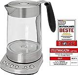 ProfiCook PC-WKS 1020 G 2in1 Glas- Tee- Wasserkocher, Warmhaltefunktion, Edelstahl-Teefilter,...