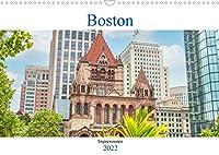 Boston - Impressionen (Wandkalender 2022 DIN A3 quer): Der Kalender nimmt Sie mit in die historische Altstadt Bostons, der Hauptstadt des US-Bundesstaates Massachusetts. (Monatskalender, 14 Seiten )