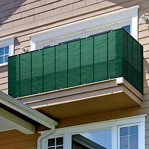 ZYFWBDZ Filtro de privacidad de la Cubierta del balcón, 5X0.9M Cubierta de la Cerca de la Pantalla de la privacidad del balcón Verde, Protección de la Seguridad del balcón